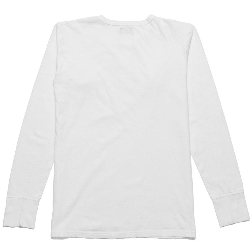Homespun Long Sleeve Surplus Henley Zimbabwe Jersey Off White at shoplostfound, back