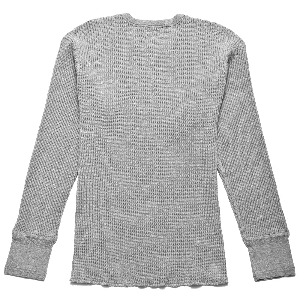 Homespun Thermal Crew Bulky Waffle Grey at shoplostfound, back