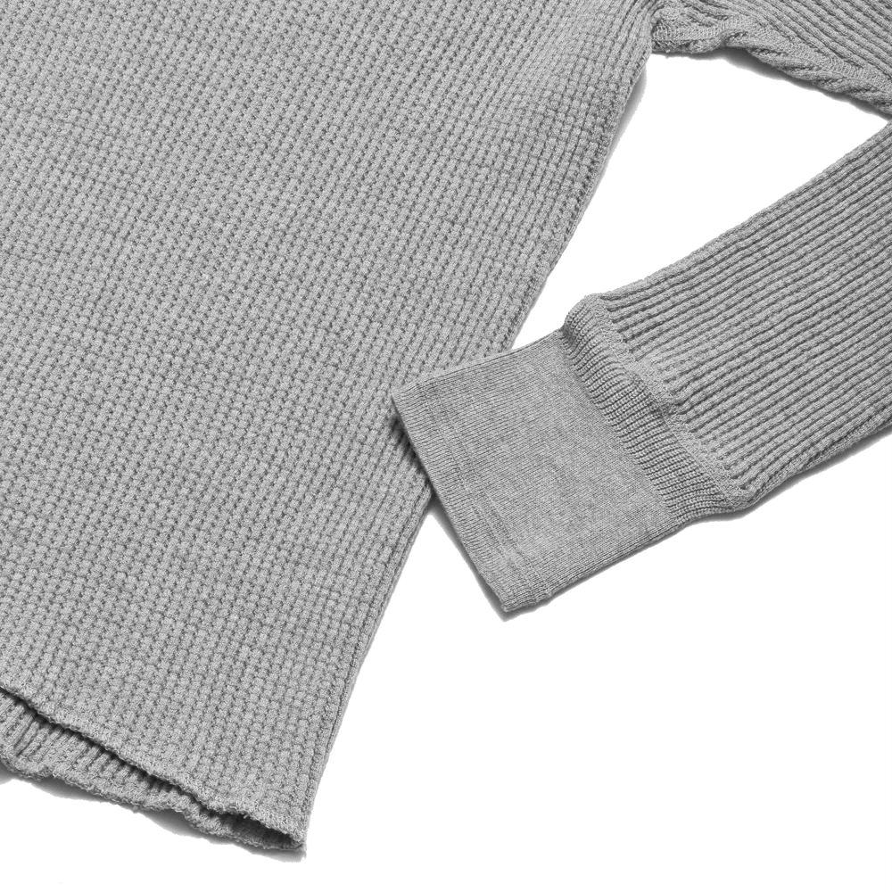 Homespun Thermal Crew Bulky Waffle Grey at shoplostfound, cuff