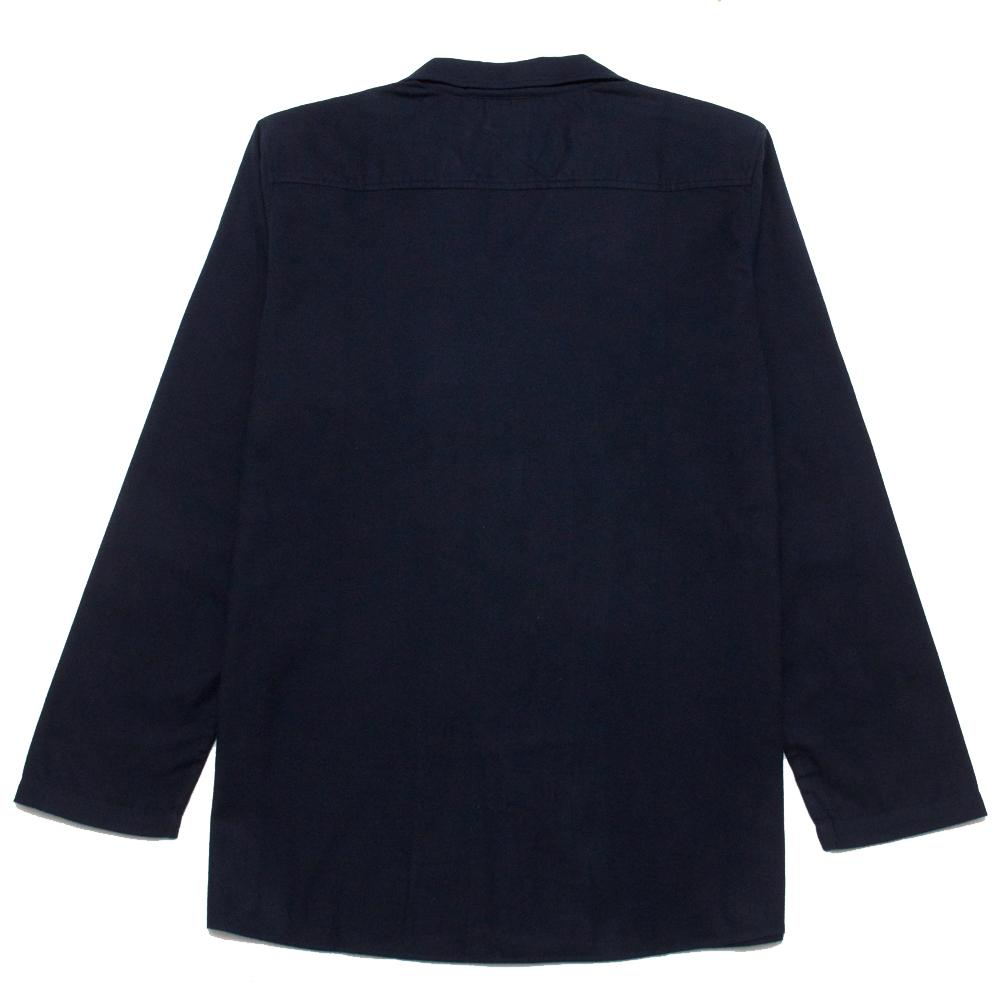Jupe By Jackie Red Lopi Camp Collar Over Shirt Navy at shoplostfound, back