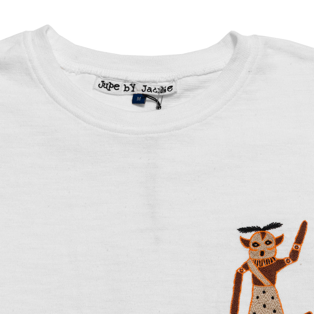Jupe By Jackie Off White Bam T-Shirt at shoplostfound, neck