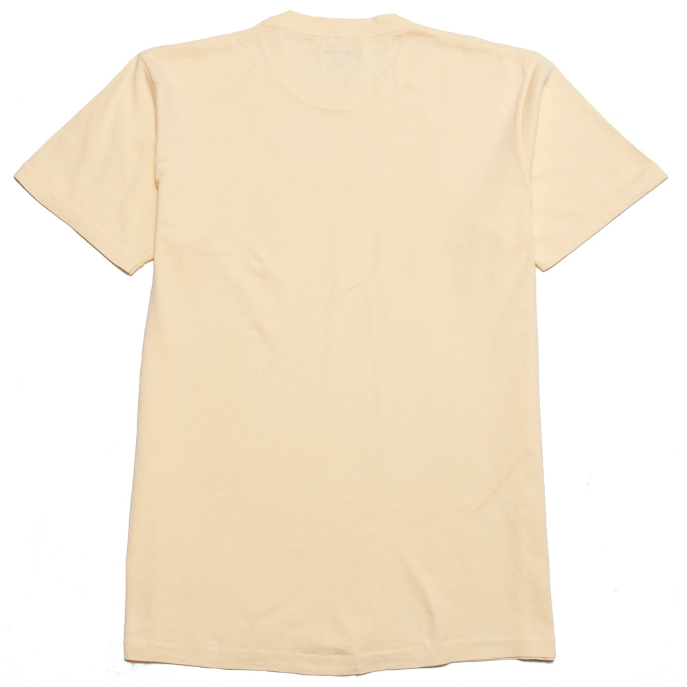 Lady White Co. Lite Jersey T-Shirt Pale Yellow at shoplostfound, back