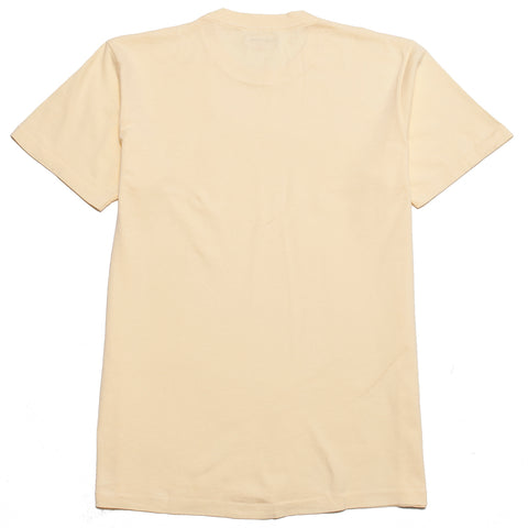 Lady White Co. Lite Jersey T-Shirt Pale Yellow at shoplostfound, front