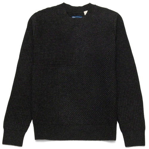 Levi's Made & Crafted Pieced Sweater Caviar at shoplostfound, front