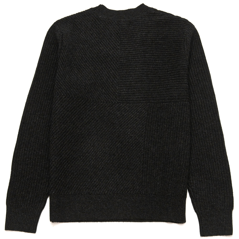 Levi's Made & Crafted Pieced Sweater Caviar at shoplostfound, back