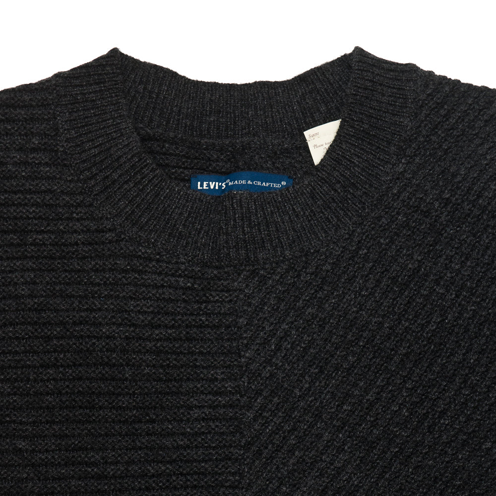 Levi 39 s made crafted pieced sweater caviar lost found for Levi s made and crafted