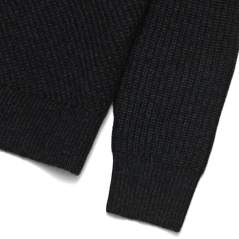 Levi's Made & Crafted Pieced Sweater Caviar at shoplostfound, cuff