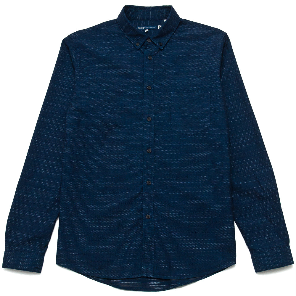 Levi's Made & Crafted Standard Floating Yarn Dobby Shirt at shoplostfound, front