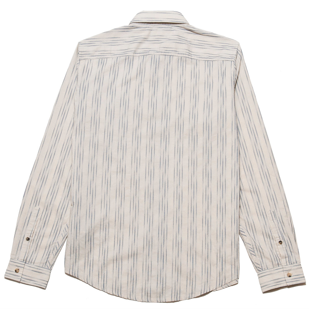 Levi's Made & Crafted Standard Shirt Ikat White/Blue at shoplostfound, back