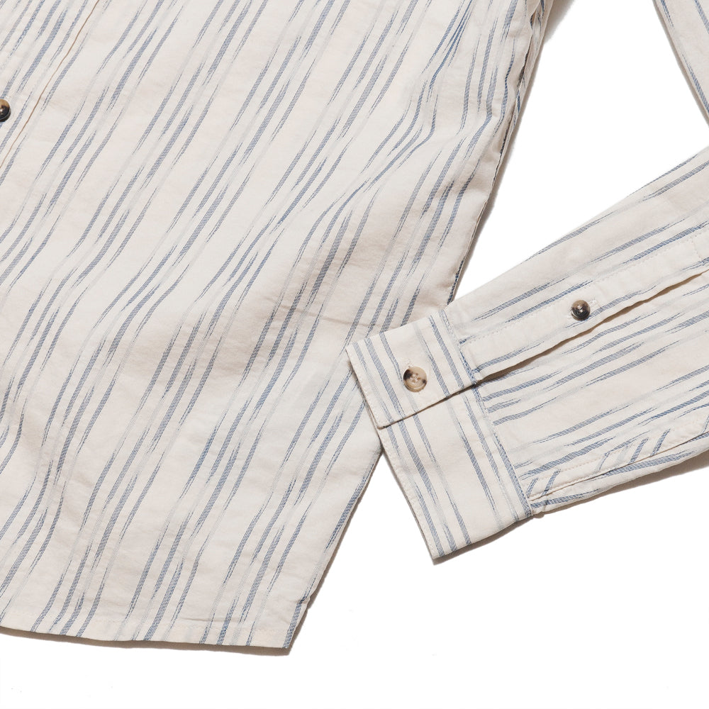 Levi's Made & Crafted Standard Shirt Ikat White/Blue at shoplostfound, cuff