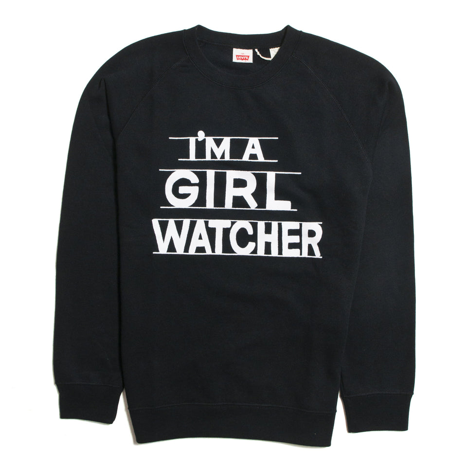 "Levi's Vintage Clothing 1970's Sweater ""I'm A Girl Watcher"""