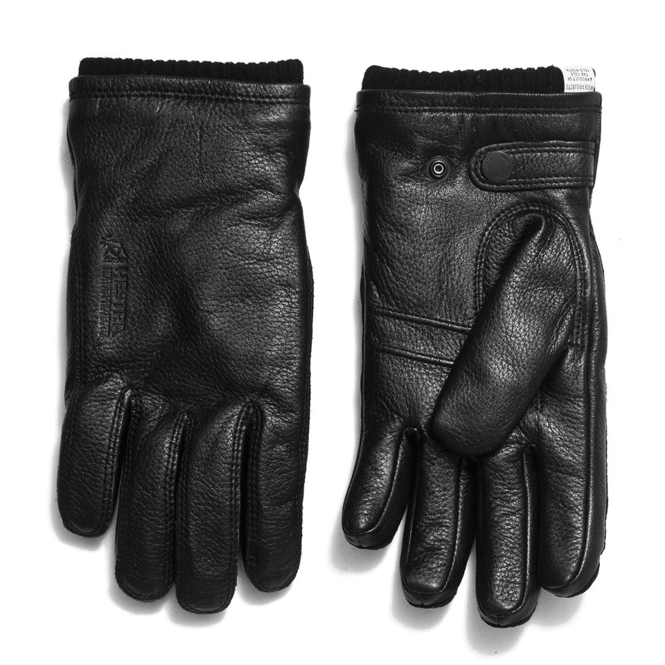 Norse Projects Hestra Utsjo Black Gloves at shoplostfound in Toronto, front and back