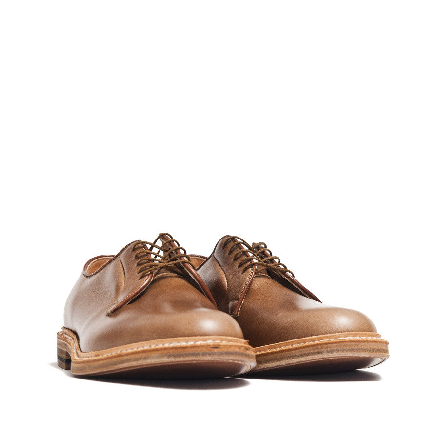 Alden Plain Toe Blucher Natural Chromexcel 9501 at shoplostfound in Toronto, product shot