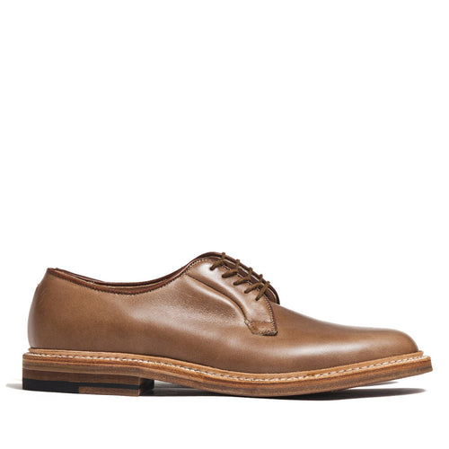 Alden Plain Toe Blucher Natural Chromexcel 9501 at shoplostfound in Toronto, profile