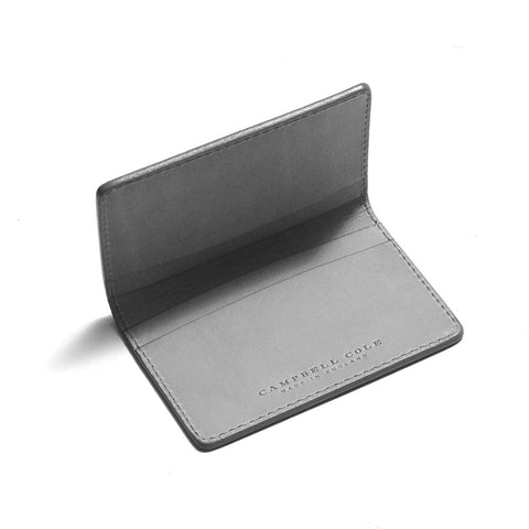 Campbell Cole Simple Card Wallet Grey at shoplostfound in Toronto, front