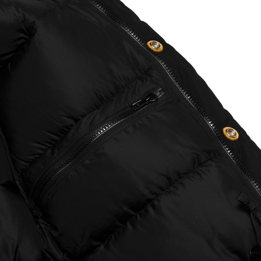 Crescent Down Works 60/40 Classico Parka Black/Black at shoplostfound, zip