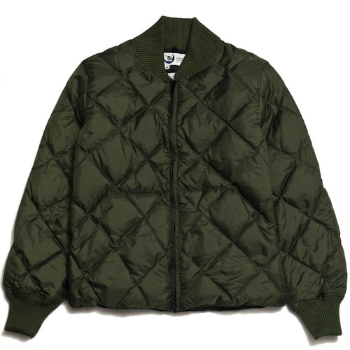 Crescent Down Works Diagonal Quilted Sweater Olive/Black