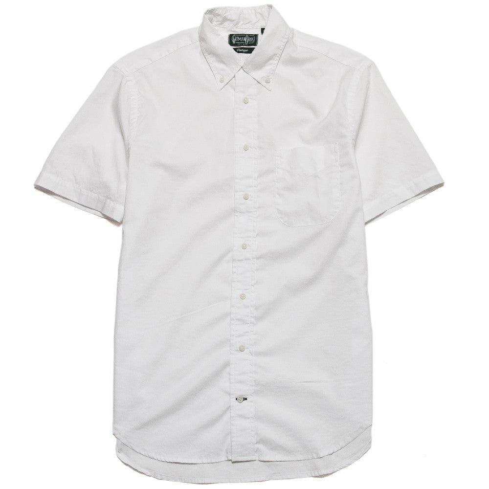 Gitman Vintage Bros. White Zephyr Short Sleeve Shirt