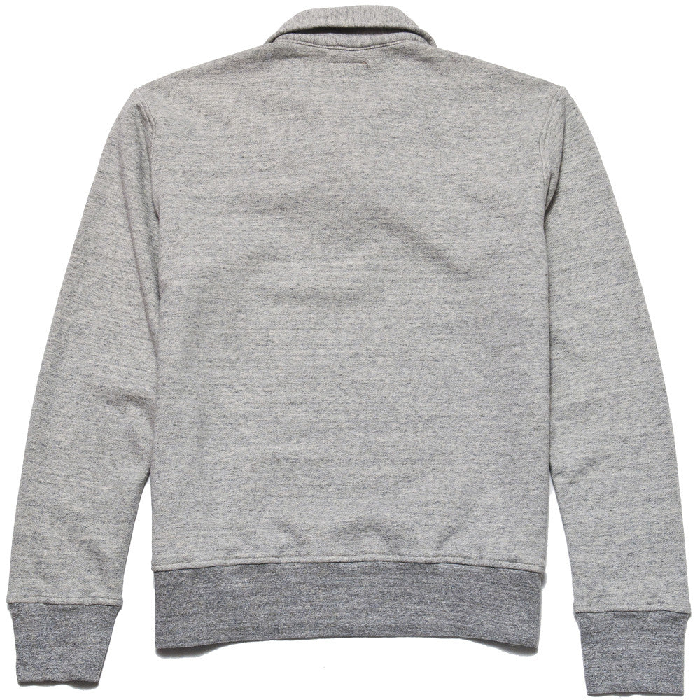 National Athletic Goods 1/4 Zip Campus in Mid Grey at shoplostfound in Toronto, back