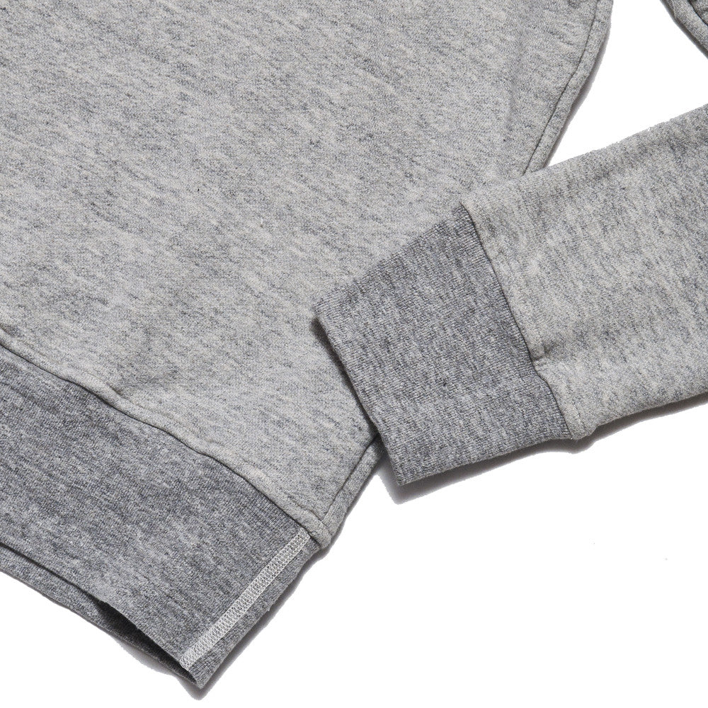 National Athletic Goods 1/4 Zip Campus in Mid Grey at shoplostfound in Toronto, hem and cuff