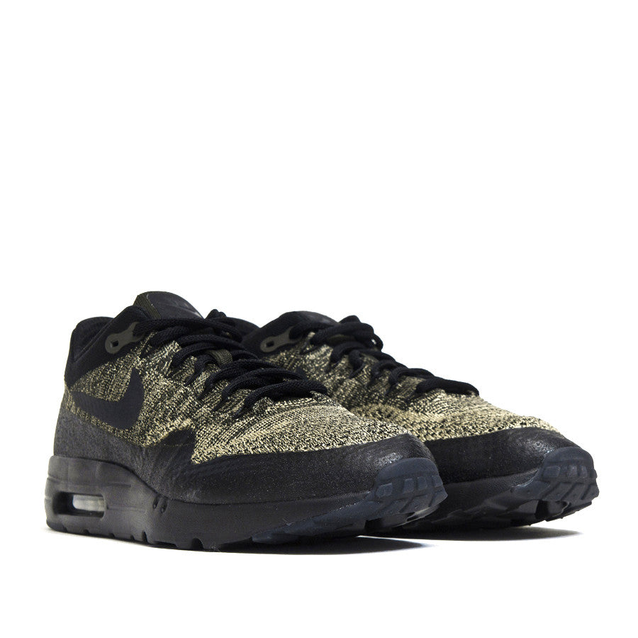 Nike Air Max 1 Ultra Flyknit Neutral Olive/Black Sequoia 856958-203 at shoplostfound in Toronto, product shot