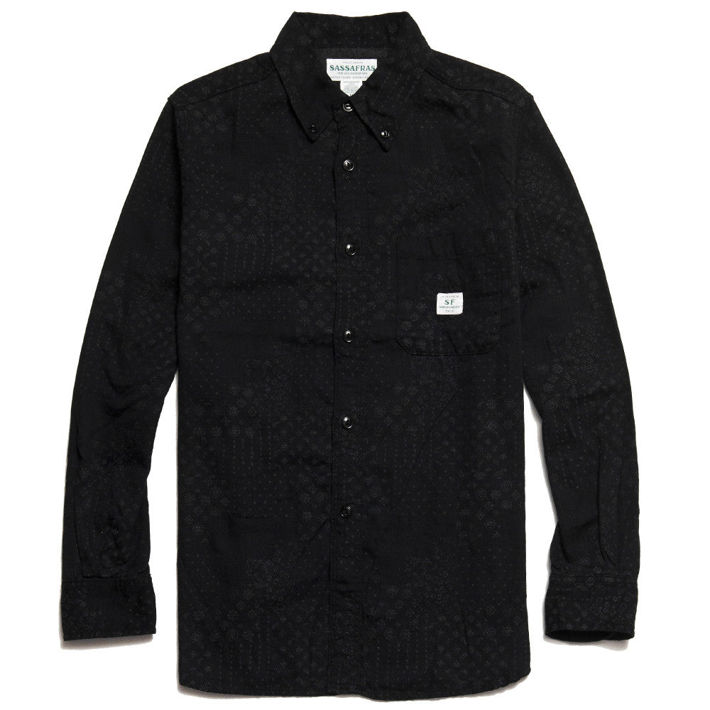 Sassafras Green Thumb Shirt Black