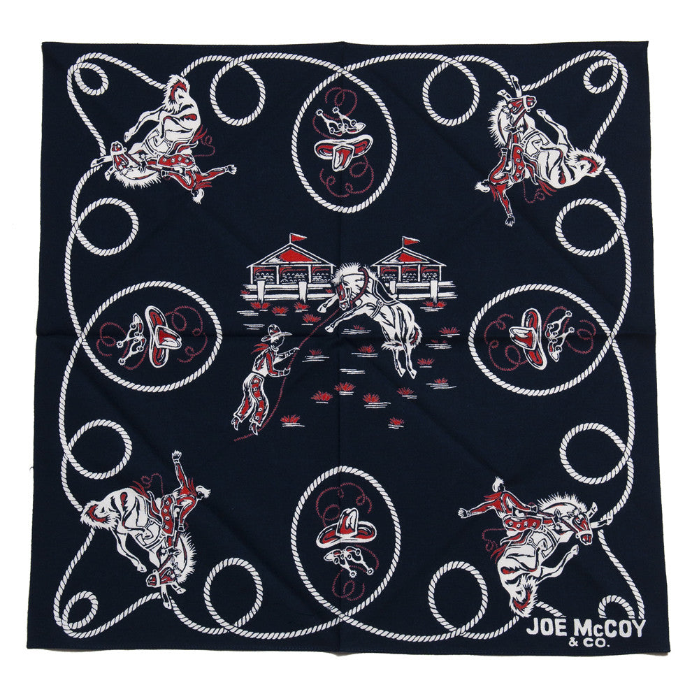 The Real McCoy's Joe McCoy MA15013 Bandana Rodeo Navy at shoplostfound in Toronto, open