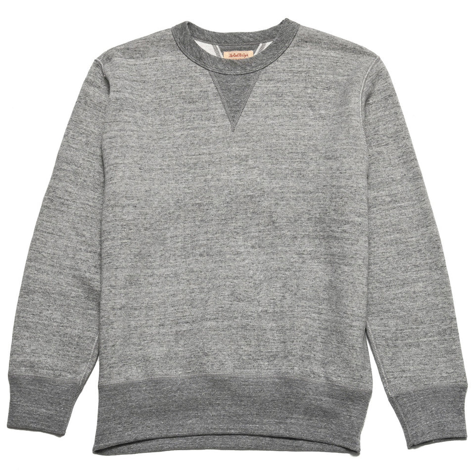 The Real McCoy's Loopwheel Crewneck Sweatshirt Grey MC13111 at shoplostfound in Toronto, front
