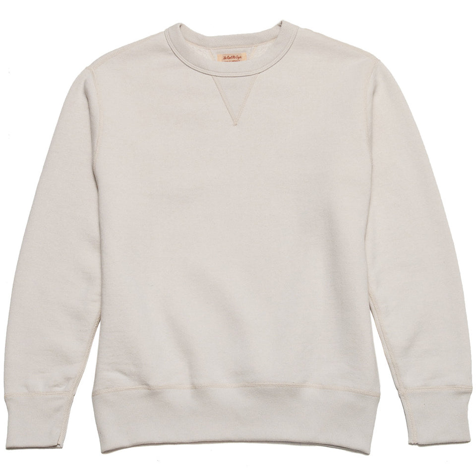 The Real McCoy's Loopwheel Crewneck Sweatshirt Milk MC13111 at shoplostfound in Toronto, front