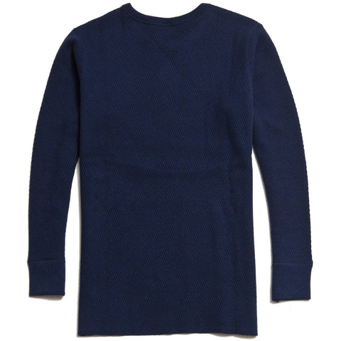 The Real McCoy's MC16109 Military Thermal Long Sleeve T-Shirt/UNSA 32 Navy at shoplostfound in Toronto, front