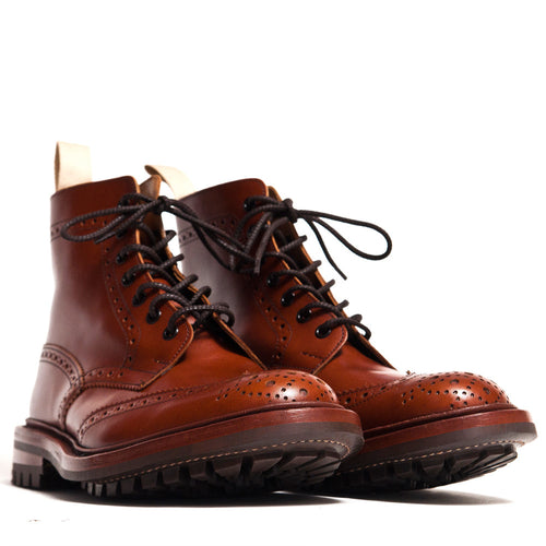 Tricker's * lost & found Marron Leather Commando Sole Stow Boot at shoplostfound in Toronto, product shot