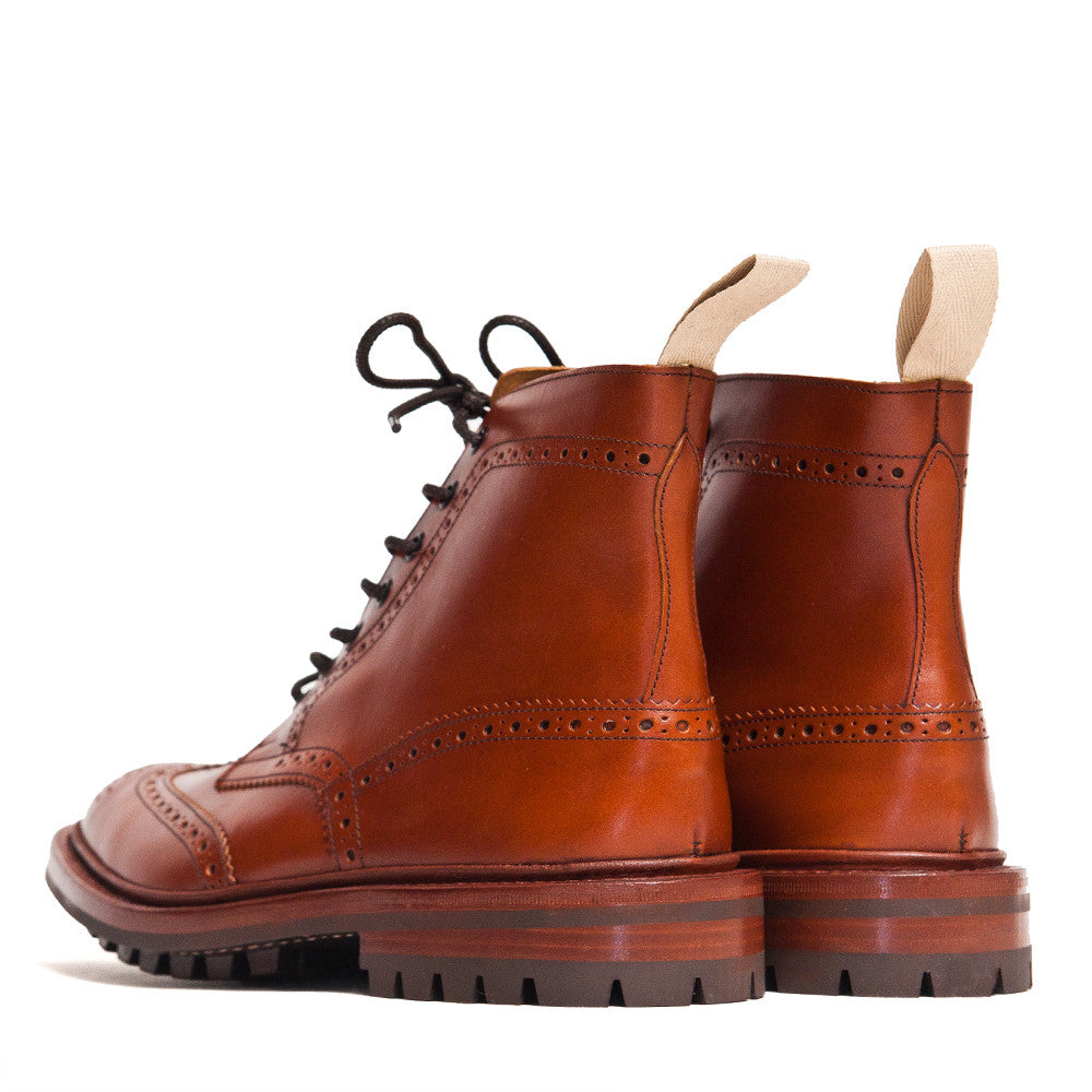 Tricker's * lost & found Marron Leather Commando Sole Stow Boot at shoplostfound in Toronto, back