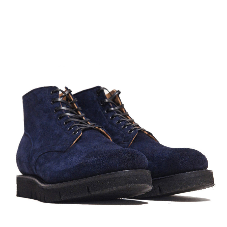 Viberg Midnight Reverse Kudu Service Boot at shoplostfound in Toronto, product shot
