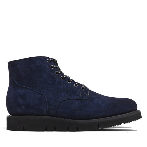 Viberg Midnight Reverse Kudu Service Boot at shoplostfound in Toronto, profile