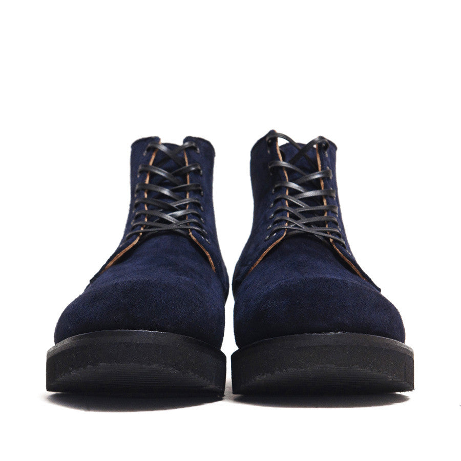Viberg Midnight Reverse Kudu Service Boot at shoplostfound in Toronto, front