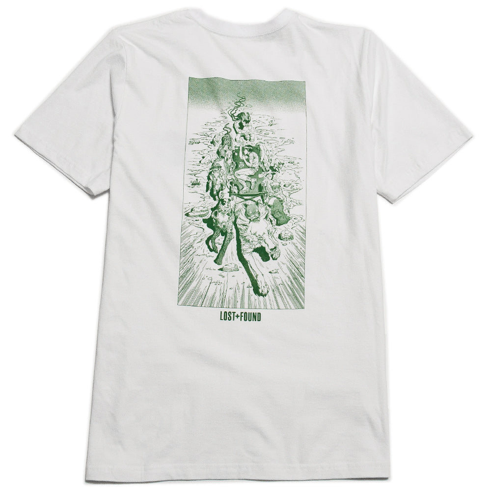 Lost & Found Artist Series 003: Robin Nishio Tee Green at shoplostfound 3