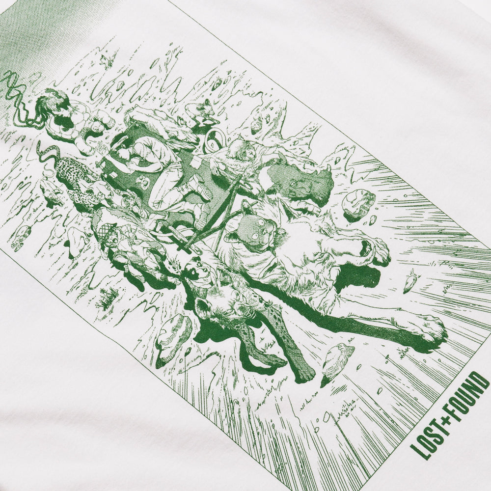 Lost & Found Artist Series 003: Robin Nishio Tee Green at shoplostfound 4