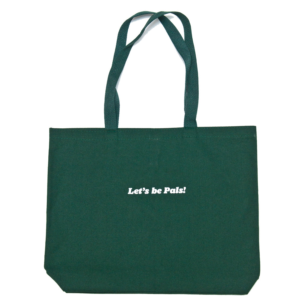 Lost & Found Canvas Tote Bag Hunter Green at shoplostfound, back