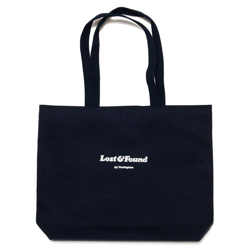 Lost & Found Canvas Tote Bag Navy shoplostfound 1