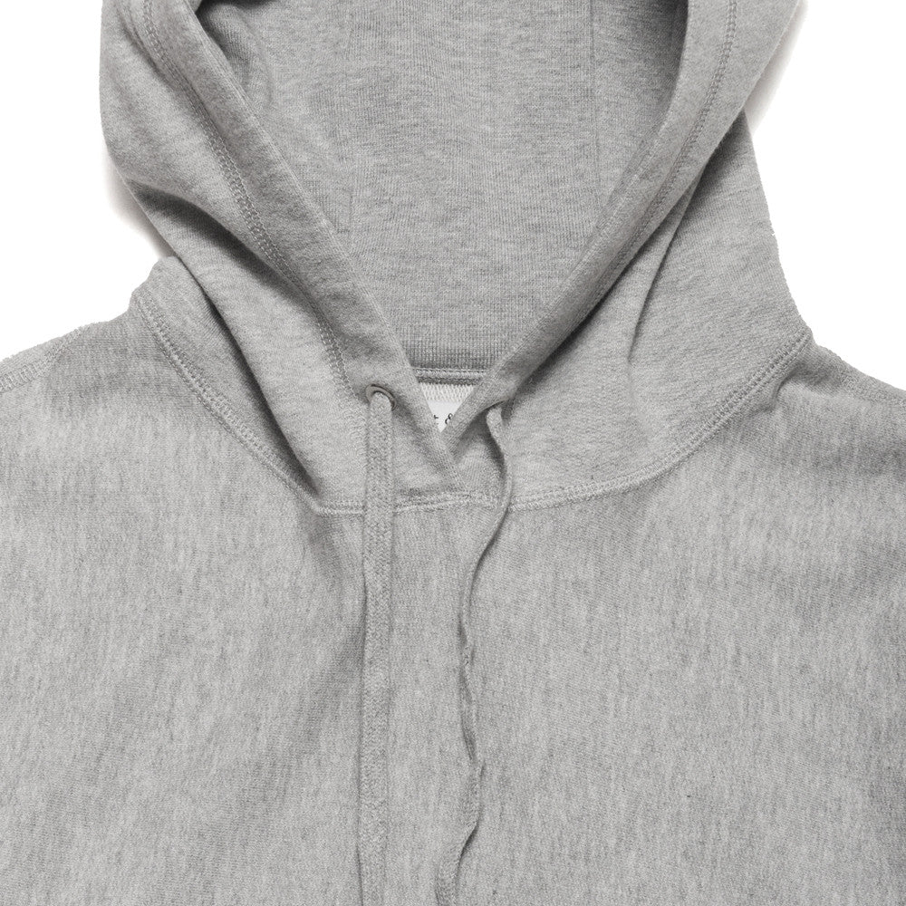 lost & found Mid Weight Pullover Hoodie Heather Grey at shoplostfound, neck