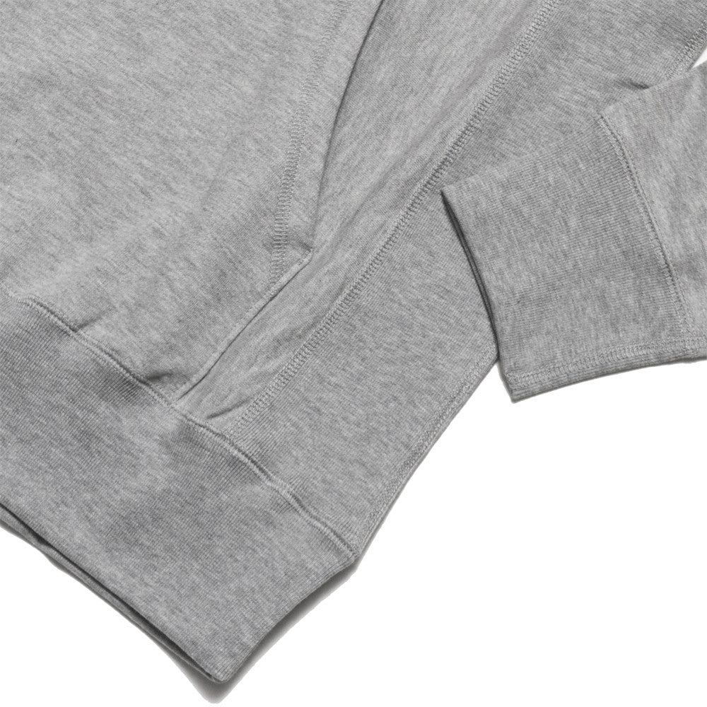 lost & found Mid Weight Pullover Hoodie Heather Grey at shoplostfound, detail