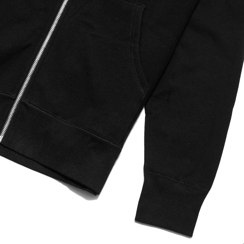 lost & found Zip Hoodie Black at shoplostfound, cuff