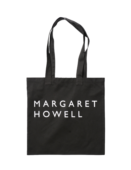 Margaret Howell Logo Bag Cotton Drill Black Front