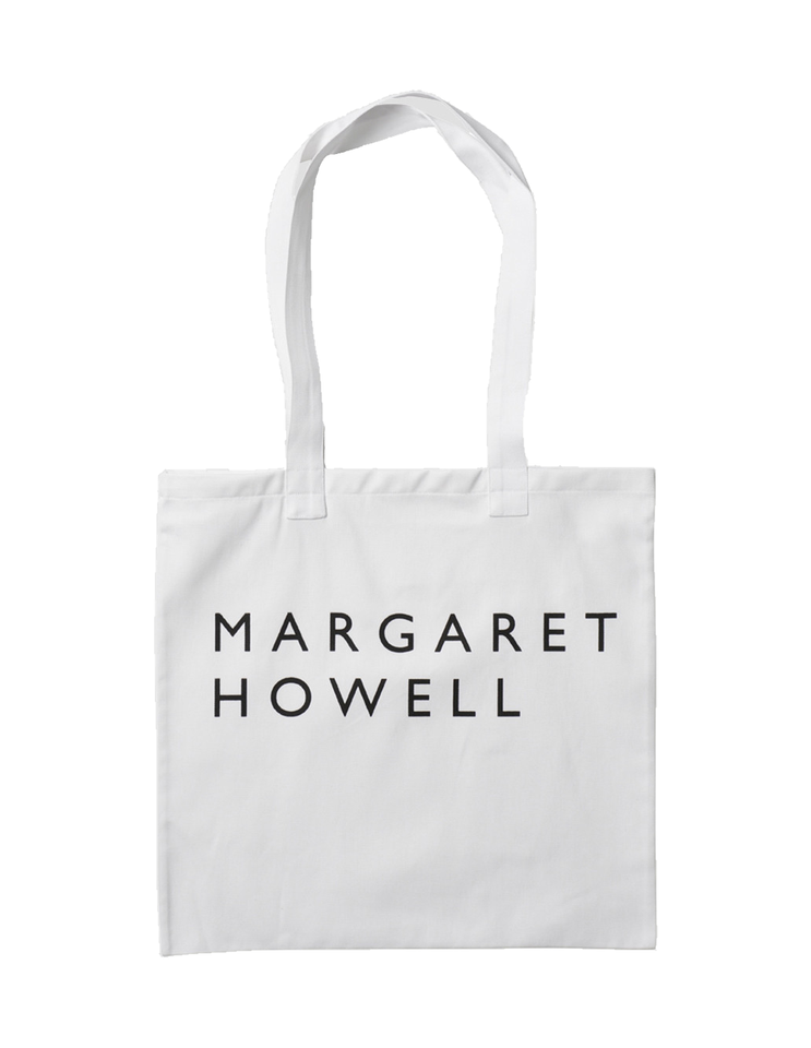 Margaret Howell Logo Bag Cotton Drill White Front
