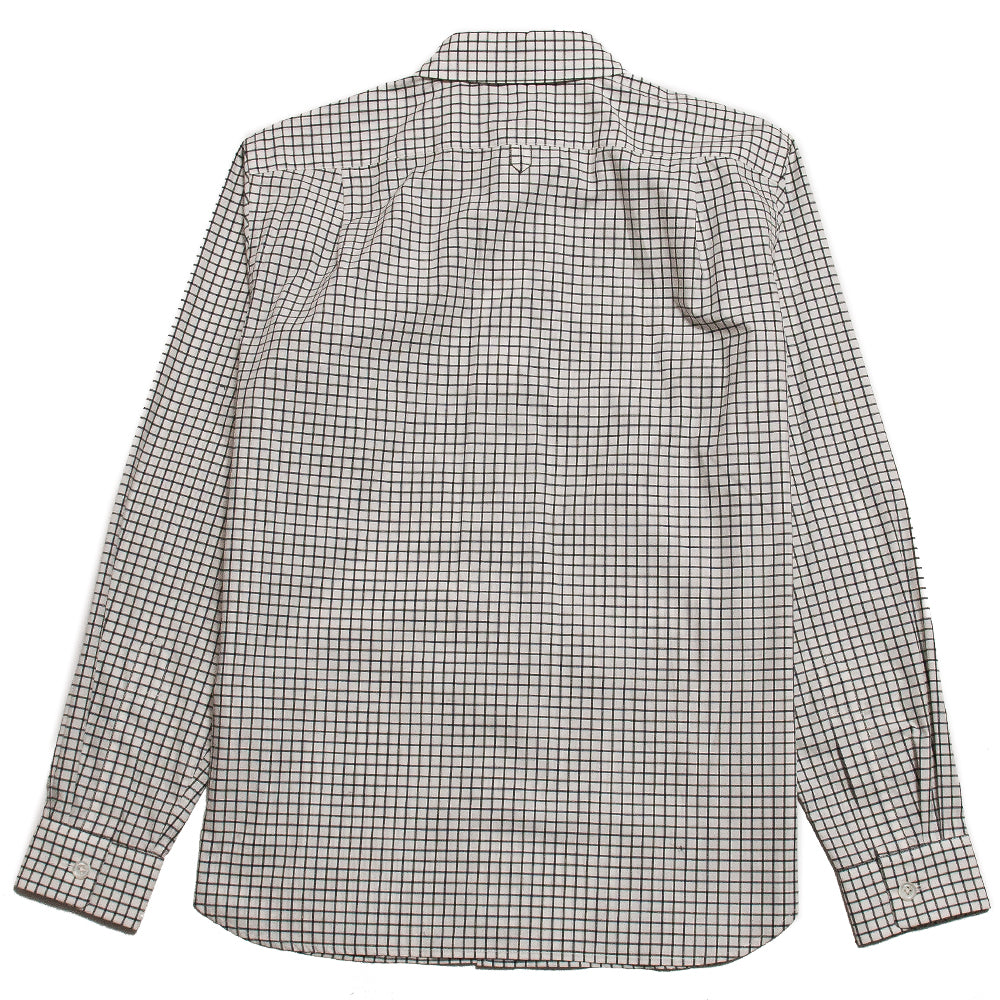 Margaret Howell Minimal Shirt Simple Cotton Check Ecru/Forest