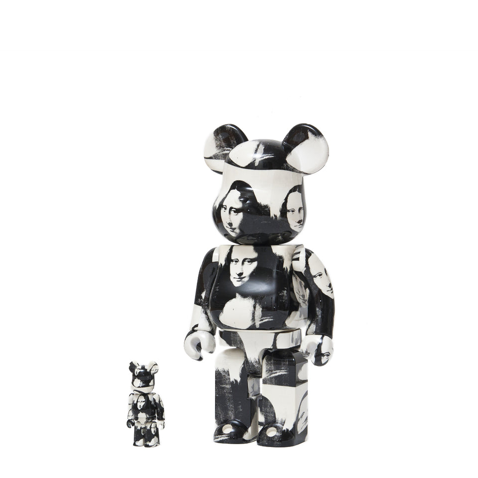 "Medicom Toy x Andy Warhol ""Double Mona Lisa"" 100% + 400% Bearbrick at shoplostfound 1"
