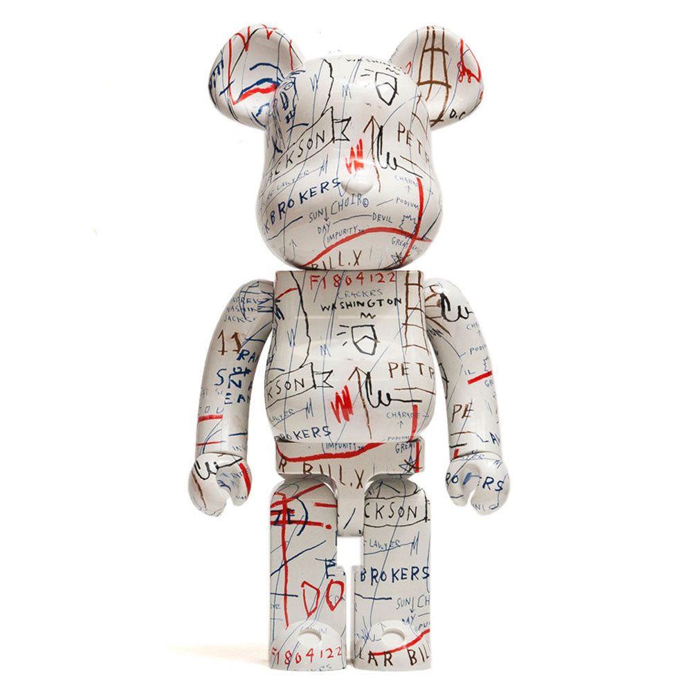 Medicom Toy x Jean-Michel Basquiat 1000% Bearbrick at shoplostfound, front