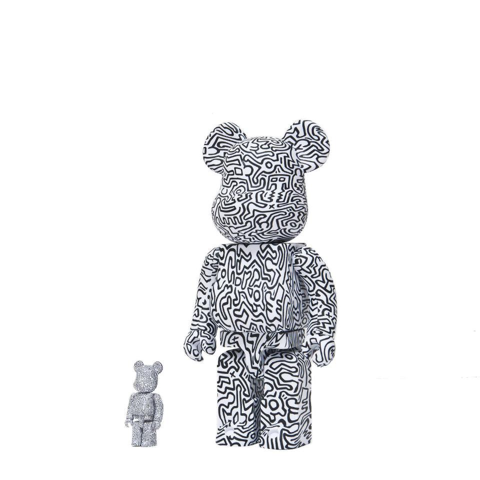 Medicom Toy x Keith Haring #4 100% + 400% Bearbrick at shoplostfound 1