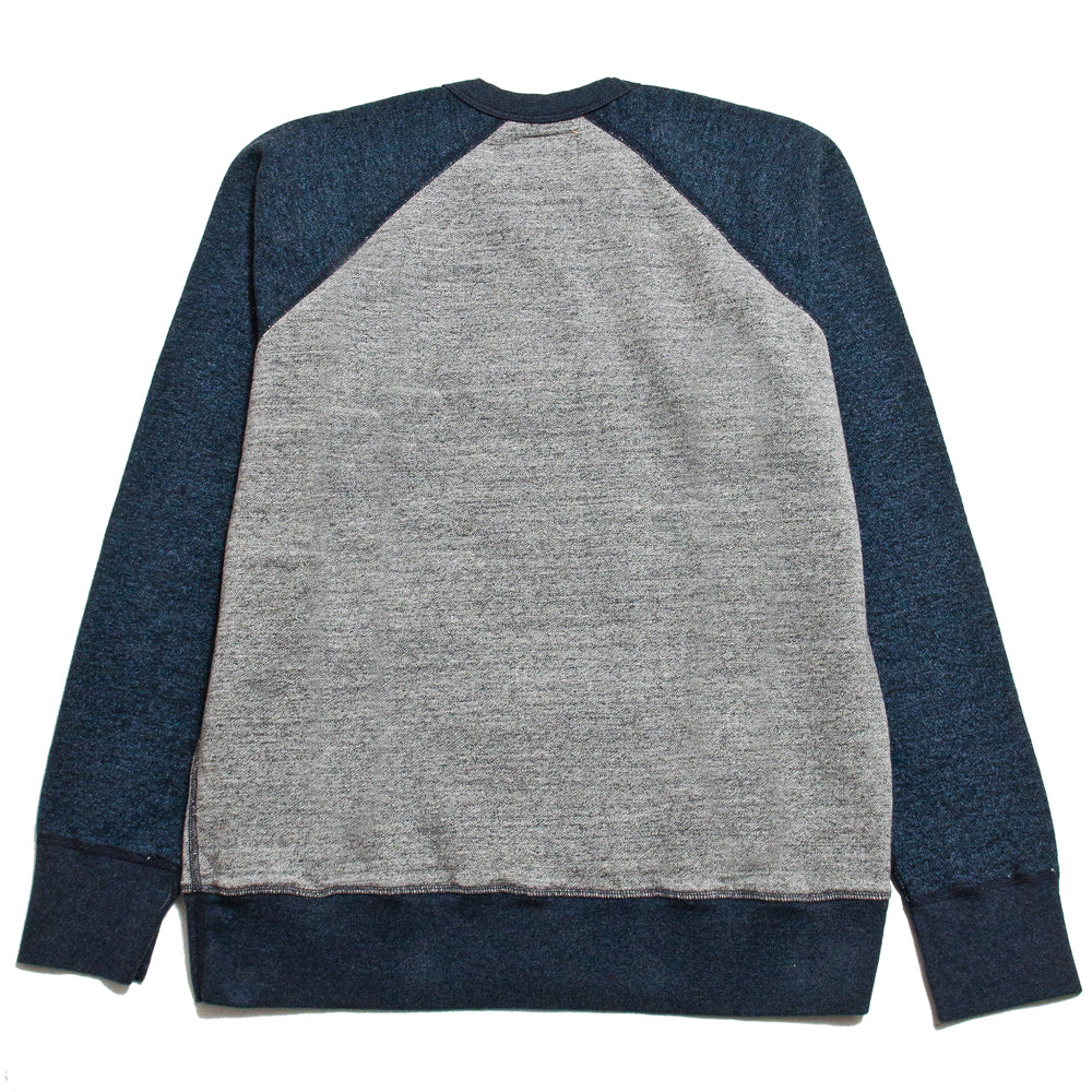 National Athletic Goods for Lost & Found Raglan Warm Up Grey/Navy at shoplostfound, back