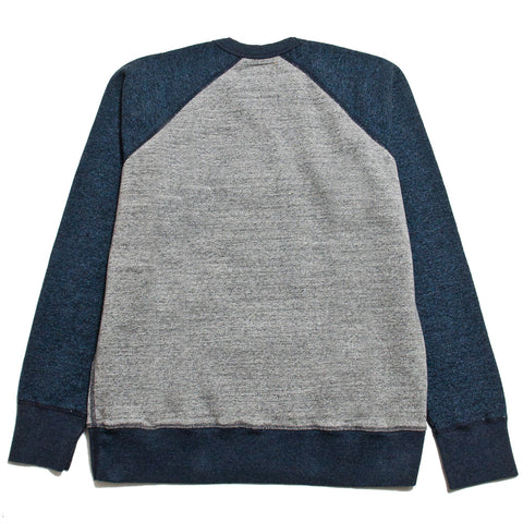 National Athletic Goods for Lost & Found Raglan Warm Up Grey/Navy at shoplostfound, front